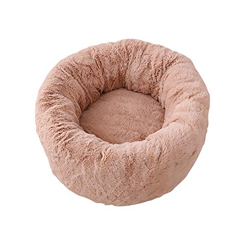 Echo Paths OrthoComfort Deep Dish Cuddler Self Warming Cat Dog Removable Cover Cushion Joint-Relief Improved Sleep pet Bed Lightbrown M (Dog Beds Deep Dish)