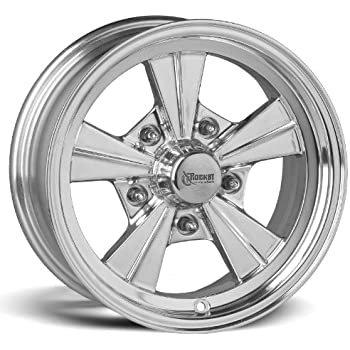 "3.50/"" backspacing R31-566135 5x4.75 Rocket Racing Wheels Igniter Polished 15x6"