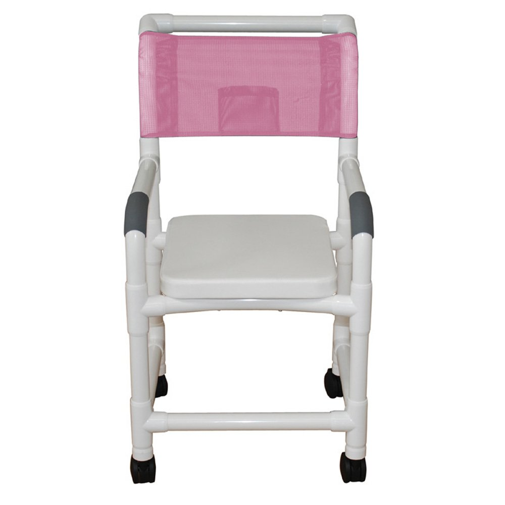 MJM International 118-3TW-SSC Standard Shower Chair with Complete Soft Seat, No Commode Opening, Royal Blue/Forest Green/Mauve