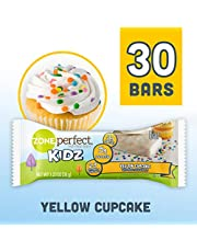 ZonePerfect Kidz Nutrition Bars, No Artificial Flavors or Colors, Yellow Cupcake, 1.23 oz, 30 Count