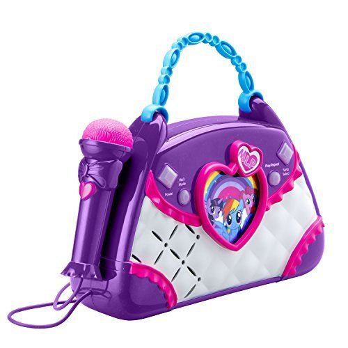 My Little Pony Magical Sing Un largo Boombox Karaoke Con Micró fono Real: Conecte Cualquier Dispositivo MP3 Y Divié rtase TheQwirkyShop