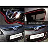Jackey Awesome3D DIY Automobile Car motor Interior Exterior Decoration Moulding Trim Strip line Sticker-Red