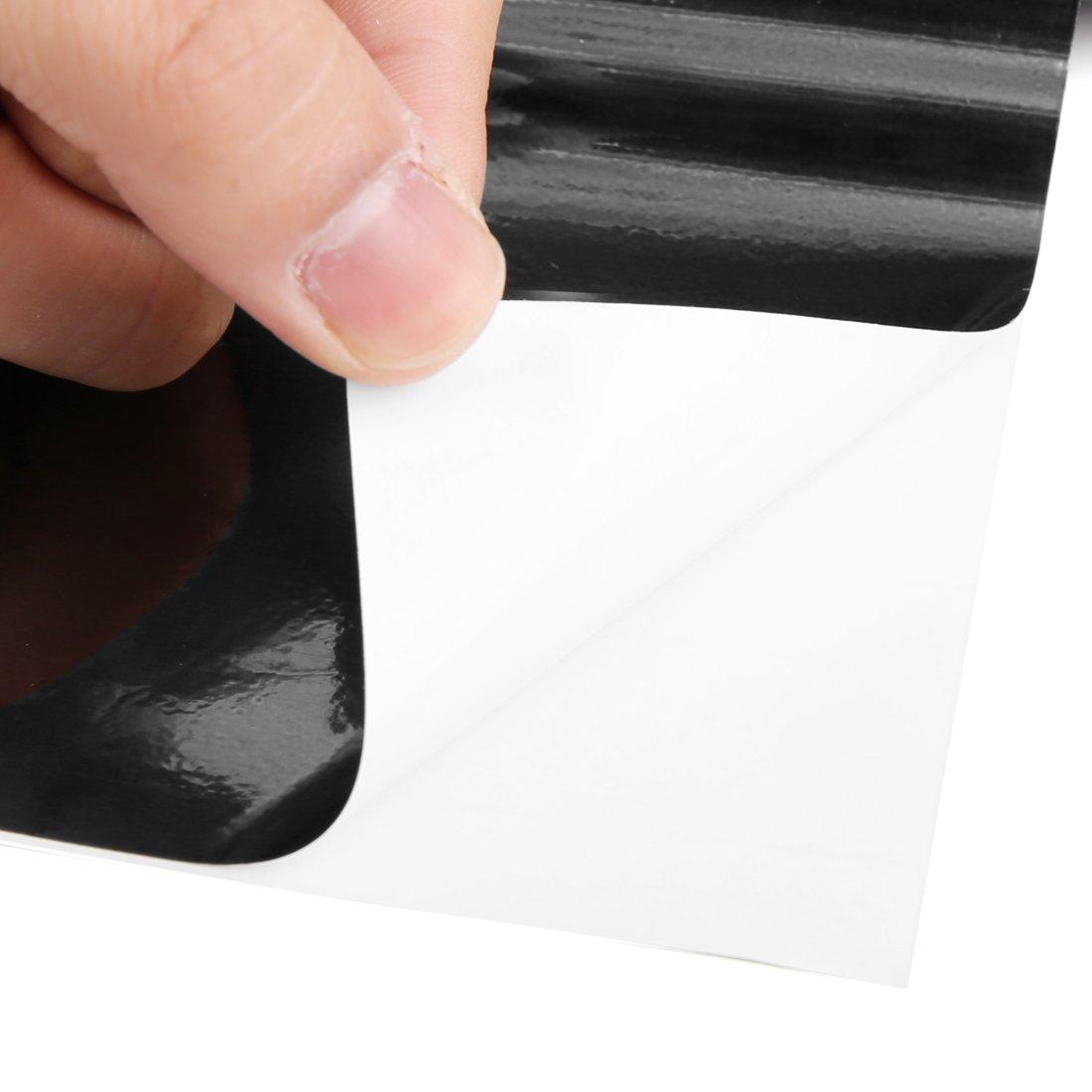 uxcell Chrome Black Bubble Free Self Adhesive Car Vinyl Film Sticker Decal 152cm x 30cm a18010800ux0157