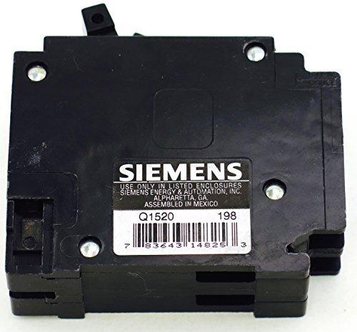 Q1520 SIEMENS RESIDENTIAL CIRCUIT BREAKER PLUG IN 15/20AMP 120V