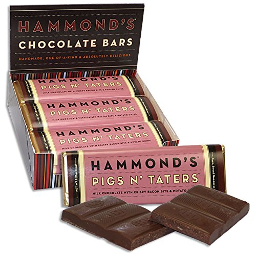 - Bacon and Potato Chips Candy Bar - Hammonds Pigs N Taters - 2.25 Oz - Funny Gift - Delicious - Good - Yummy - Chocolate Bar - Candy Bar - Milk Chocolate - Christmas Present Idea