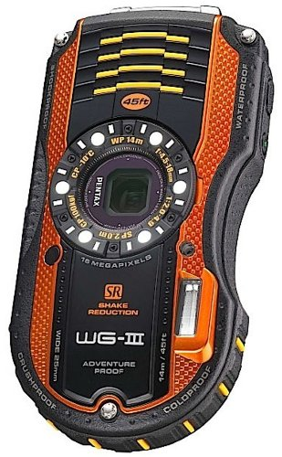 Pentax Optio WG-3 16MP Waterproof Digital Camera with 3-Inch LCD Screen (Orange) (Waterproof Digital Pentax)