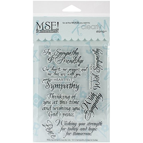 Price comparison product image MSE Stamp Sheet, 4 by 6-Inch, Sympathy, Clear
