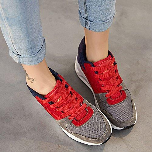 del de House mujer Zapatillas aire Zapatillas 40 running para Peggie Correr Zapatillas 35 Rojo Deporte de Zapatos para zapatos 6dxAp