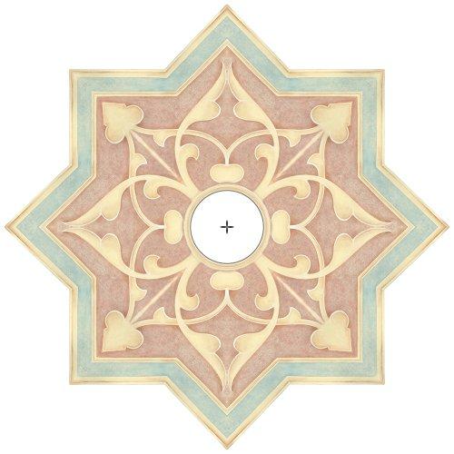 "Seville Giclee 24"" Wide Repositionable Ceiling Medallion"