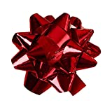 "Red Metallic Confetti Bows - 1"" - Pack of 100"
