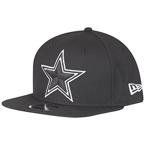 Nfl Dallas Cowboys Clothing (New Era NFL Dallas Cowboys Black White Logo Snapback Cap 9fifty Limited Edition)
