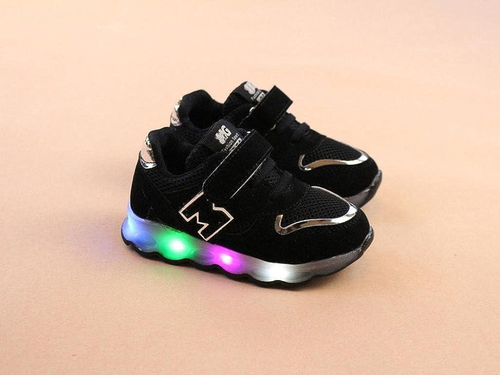 K-youth/® Zapatos LED Ni/ños Ni/ñas Zapatillas Ni/ño Zapatillas para Beb/és Zapatos de beb/é Zapatillas de Deporte Antideslizante Zapatillas con Luces para ni/ñas ni/ños