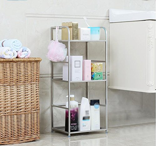 304 stainless steel bathroom racks / bathroom toilet cosmetics / laundry detergent racks ( Size : 302470CM ) by Shelf-xin