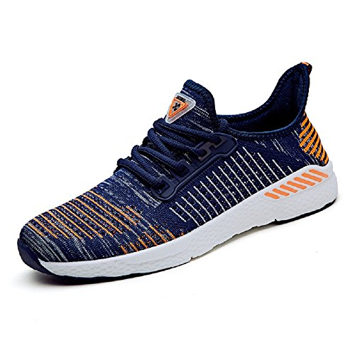 Sport NEOKER Respirant Homme Fitness Shoes Running Sneakers Baskets 42 Chaussures Orange Femme Légère xYYqzwZSr