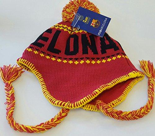 Barcelona FC Official Licensed Peruvian Tassels Beanie Knit Hat by Rhinox