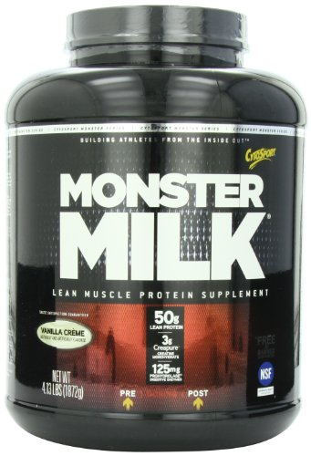 CytoSport Monster Milk, Vanilla Creme, 4.13 Pound