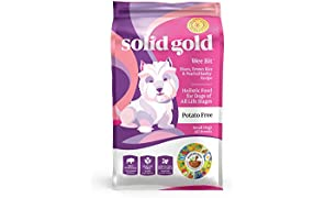 Solid Gold - Wee Bit With Real Bison, Brown Rice & Pearled Barley - Potato Free - Fiber Rich with Probiotic Support - Holistic Dry Dog Food for Small Dogs of All Life Stages, Dry: 12 lb.