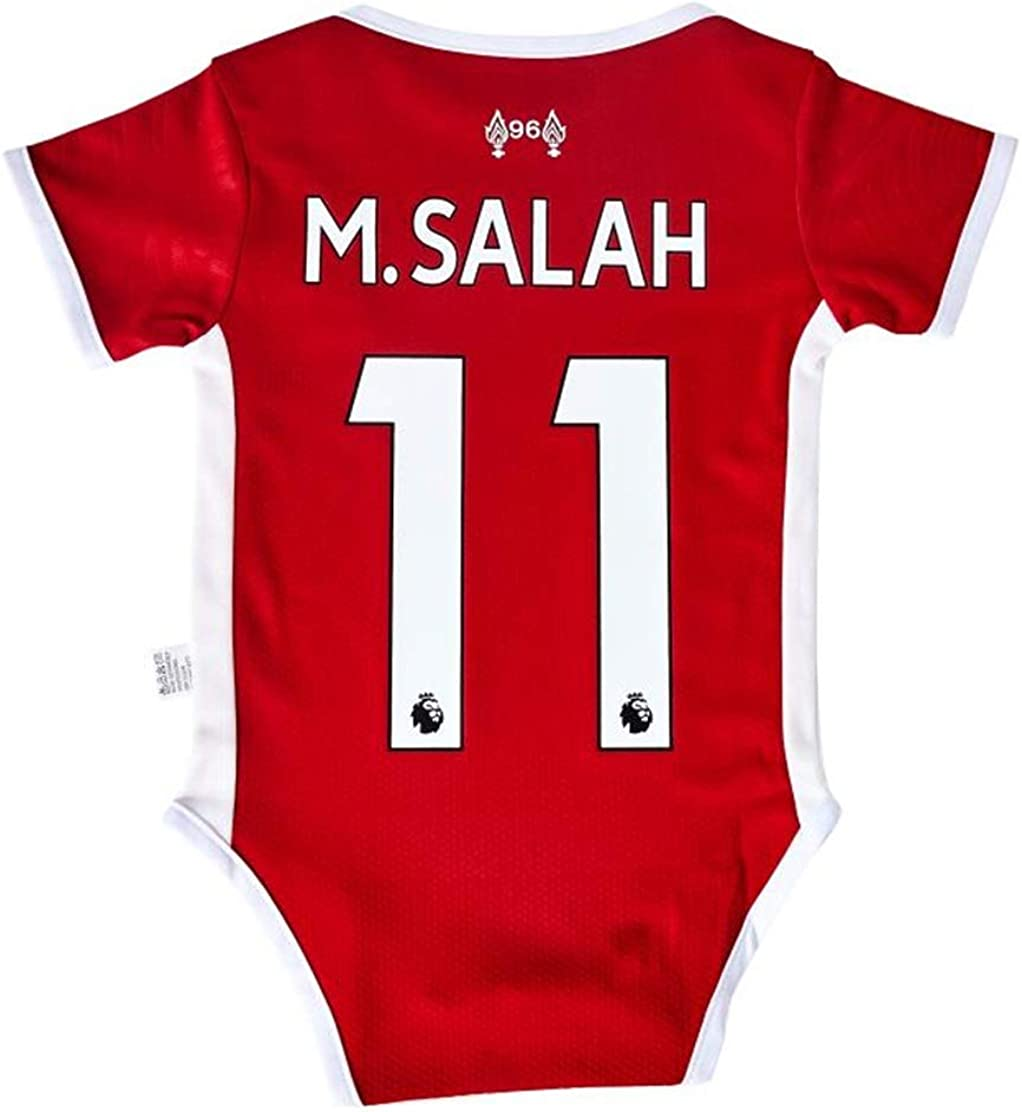 UHBHEA Liverpool Bodysuit #11 M Salah Authentic Soccer Rompers Club Infant and Toddler Jumpsuit