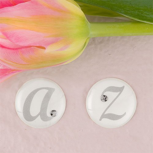 UPC 068180013814, Weddingstar 9400-P Monogram with Single Rhinestone Epoxy Sticker Letter - P