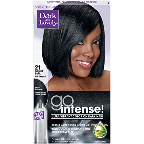 SoftSheen-Carson Dark and Lovely Go Intense Ultra Vibrant Color on Dark Hair, Original Black 21 (Packaging May Vary) (Best Hair Dye Products For African American Hair)