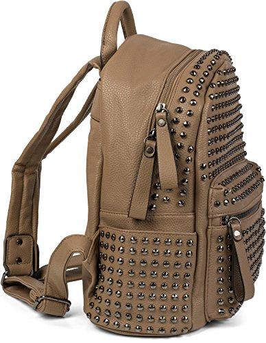 fermeture 02012226 couleur à avec clous sac glissière à mains dos à pochette Argent Noir styleBREAKER femmes sac xS8qOU86