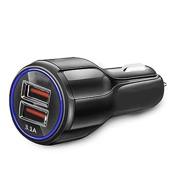 KMFKD Cargador de Coche Dual USB para Carga de teléfono ...