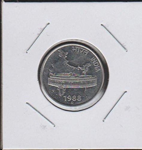 1988 IN Asoka Lion Pedestal Half Dollar Choice Uncirculated (Lion Dollar Coin)