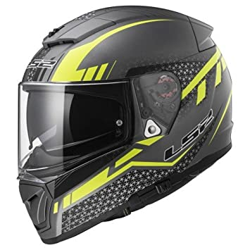 Casco LS2 Breaker Split titanio mate / amarillo (L)