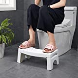 Bathroom Stools,Squatting Toilet Stool Non-Slip Bathroom Step Up Stool Relieves Constipation, Bloating   Aligns The Colon for Faster, Easier Relief   Proper Toilet Posture for Healthier