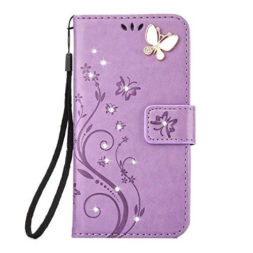 Cheap LG Aristo Case,LG K8 2017 Wallet Case,LG LV3 Case Flip Case PU Leather Flip Folio Kickstand Ha...