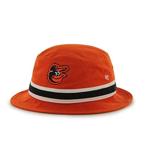 47 Brand Orange Striped Bucket Hat - MLB Gilligan Fishing Cap (Baltimore  Orioles) fe38a85ca9e