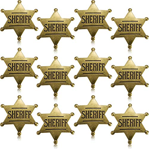 WILLBOND Metal Sheriff Badge Bronze Western Cowboy