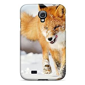 Durable Case For The Galaxy S4- Eco-friendly Retail Packaging(fox Snow Running Winter)