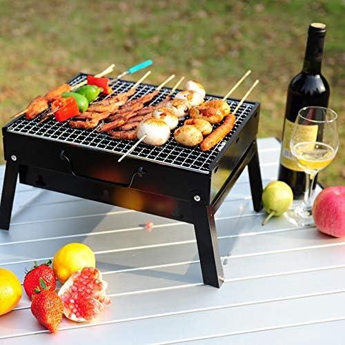 3-5 Personnes Barbecue Barbecue Portable Grils brûleur Four extérieur Jardin Barbecue au Charbon Patio Party de Cuisine Pique-Nique Pliable