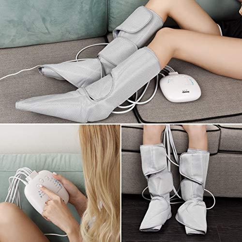 Ikeepi Leg Air Compression Massager for Foot and Calf Circulation Massage Leg Wraps with 6 Massage Modes 3 Intensities