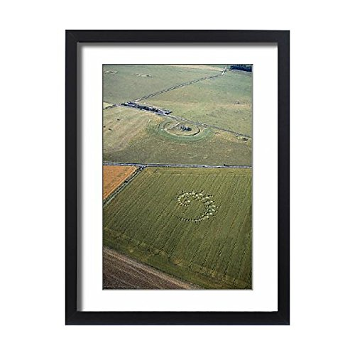 Media Storehouse Framed 24x18 Print of Stonehenge and crop circle N960002 (Stonehenge Crop Circle)