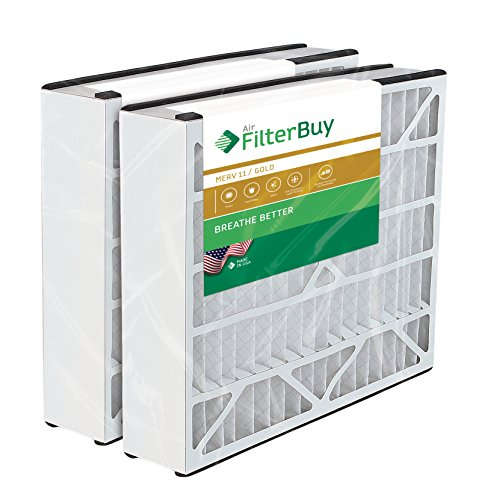 2 - 20x25x5 Trion Air Bear Aftermarket 255649-102 Pleated AC Furnace Air Filters. AFB Gold MERV 11.