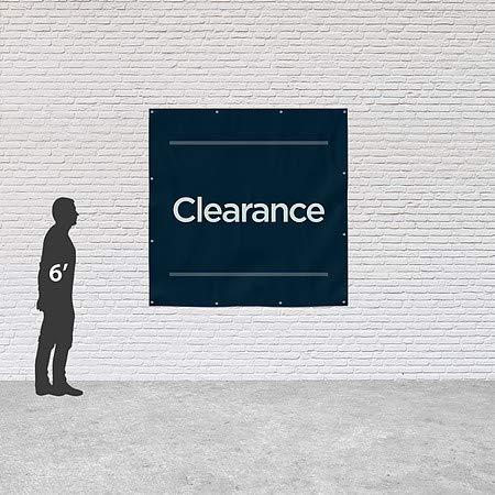 Clearance 8x8 Basic Navy Heavy-Duty Outdoor Vinyl Banner CGSignLab