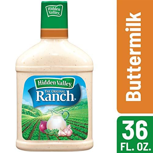Hidden Valley Buttermilk Ranch Salad Dressing & Topping, Gluten Free, Keto-Friendly - 36 Ounce Bottle