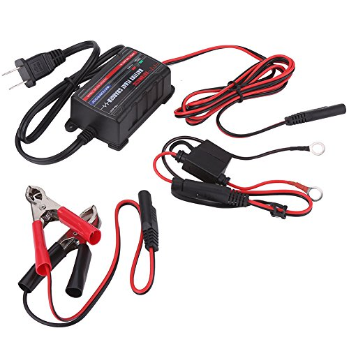 Qiilu 0.75A 6V 12V Automatic Battery Trickle Charger Maintainer for Car Motor ATV RV (American Plug) by Qiilu (Image #1)