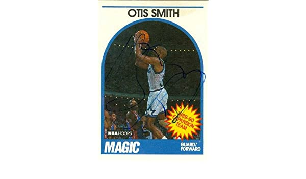Otis Smith autographed Basketball Card (Orlando Magic) 1989 Hoops #303 at Amazons Sports Collectibles Store