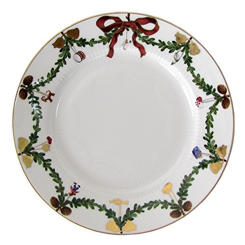 Royal Copenhagen Star Fluted/Xmas 1017455 Plate Flat 19 cm Porcelain Multi-Coloured