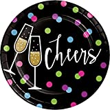 Creative Converting 324190 96-Count Sturdy Style Dessert/Small Paper Plates, New Year Cheers