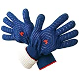 dirk BBQ Grill Gloves, 932°F Heat Resistant BBQ, Smoker, Grill, and Cooking Gloves, Great for Barbecue & Grilling, 1 Pair, Blue