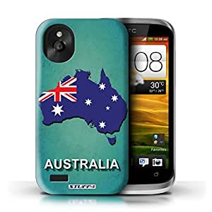 KOBALT? Protective Hard Back Phone Case / Cover for HTC Desire X | Australia/Australian Design | Flag Nations Collection