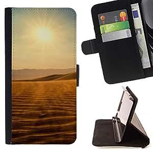 For Samsung Galaxy S5 V SM-G900 Case , Vistas del desierto- la tarjeta de Crédito Slots PU Funda de cuero Monedero caso cubierta de piel