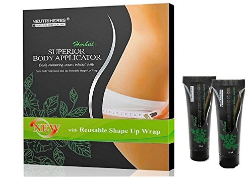 (Neutriherbs 45 Min Ultimate Body Wraps Applicator (5) Plus Bonus Slimming Shape Up Wrap Strap, Weight Loss,Tones Tightens and Firms & 2 PC 15 ML Superior Body Defining)