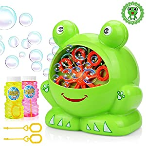 Bubbles Hurricane Machine, Betheaces Toys for Kids Boys Girls Age of 4,5,6,7,8-16 Durable Bubble Maker 500 Bubbles per Minute for Outdoor and Indoor Use with Bubble Solution