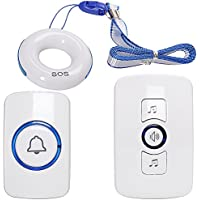 SadoTech Necklace Caregiver Call Button - Pendant Smart Caregiver Pager & SOS Wireless Doorbell, Medical Alert System for Assisted Living, Home Attendant, Nurses, Seniors, Patients With Disabilities