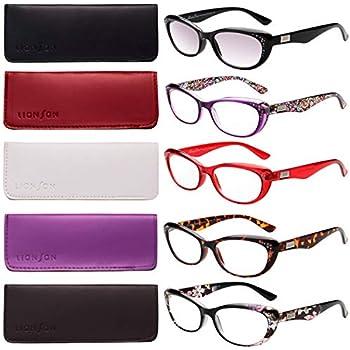 4628366dfd4e LianSan 5-Pack Fashion Designer Cat Eye Reading Glasses Women Reading  Eyeglasses Includes Sun Readers L3705x (+2.00
